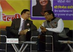 Dr. Ujjwal Patni with rajat sharma