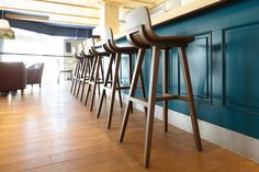 Our Kuskoa stools in the « Food Embassy », in Moscou. Design: Jean Louis Iratzoki