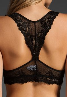 EBERJEY Colette Racer Back Bralet in Black at Revolve Clothing