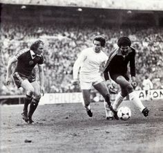 Johnny Doyle in action against Real Madrid in the 1980 European Cup Quarter-Final