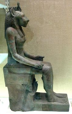 Statue, Wadjet (?)  Period: Late Period Dynasty: Dynasty 2526 Date: ca. 712525 B.C. Geography: Egypt Medium: Bronze or copper all