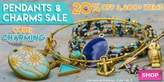 Pendants & Charms Sale at www.beadaholique.com - Find the perfect focal or accent to establish the look and feel of your #beading and #DIY #jewelry-making projects and save 20%!