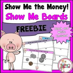 FREEBIE! Show Me Boards are great for small group time. These boards will give you a quick view of who is understanding how to count coins and who is not.