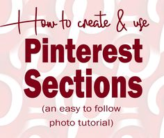 Use this step-by-step photo tutorial to get started using Pinterest sections! This new feature will help you organize your pins and easily find them again! Pinterest Blog, Pinterest Board, Pinterest Tutorial, Social Media Marketing Manager, Iphone Life Hacks, Learn Something New Everyday, Technology Hacks, Online Entrepreneur, Photo Tutorial