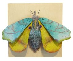 bug blue Textile Sculptures. Totally amazing!