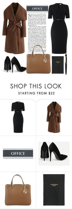 """""""Work clothes"""" by sevil609a ❤ liked on Polyvore featuring Damsel in a Dress, Chicwish, U.S. Stamp & Sign, Michael Kors, Sloane Stationery and Cartier"""