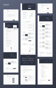 png by Michał Nowakowski Wireframe Web, Wireframe Design, Design Ios, Web Design Tips, Page Design, Web Layout, Layout Design, Design Thinking, Web Grid