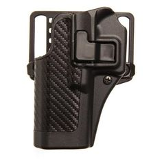 BlackHawk CQC SERPA Holster With Belt and Paddle Attachment, Fits Glock 17/22/31, Left Hand, Carbon Fiber, Black - Endless Box - 3