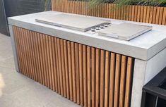 Outdoor Bbq Kitchen, Patio Kitchen, Concrete Kitchen, Outdoor Kitchen Design, Outdoor Barbeque, Barbecue, Hawaian Party, Concrete Forms, Brick Bbq