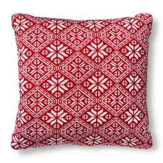 Threshold™ Red Fair Isle Knit Pillow : Target
