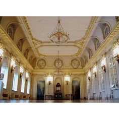 Baroque ballroom ❤ liked on Polyvore featuring backgrounds and places