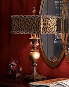 French Madame - wonderful leopard table lamp for the safari room