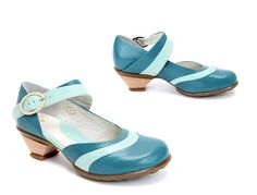 Not quite a flat, but I'm obsessed with turquoise shoes.  I may need a new board.  John Fluevog