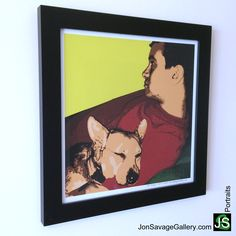 Here's one of our client's pet artwork. Order your own a personalized portrait today at http://jonsavagegallery.com/commissions/
