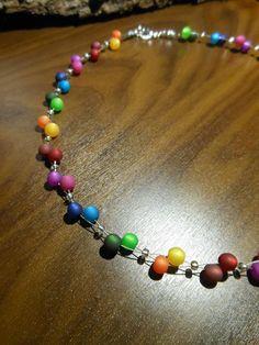 Neu unikat bunt Polariskette Regenbogen Halskette Collier Polaris perlen kette in Uhren & Schmuck, Modeschmuck, Halsketten & Anhänger | eBay