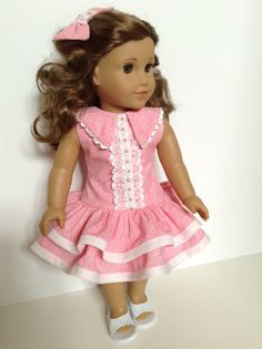 American Girl 18inch Doll Clothes Ruffled Dress by HFDollBoutique