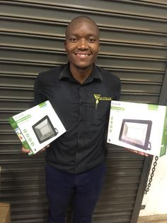 Congratulations to Sanele Dlamini of Southgate Electrical Wholesalers! one of Flash SMS Game winners. We love to see these smiles❤️. #SMSGameWinner #LEDLighting #OutdoorLighting #February2020