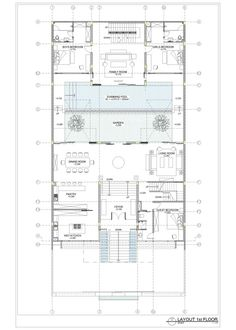 Image 48 of 51 from gallery of Static House / TWS & Partners. layout plan second floor My House Plans, House Layout Plans, House Layouts, Interior Courtyard House Plans, Dream House Exterior, Modern Exterior House Designs, Hotel Floor Plan, Country House Design, Bathroom Design Small