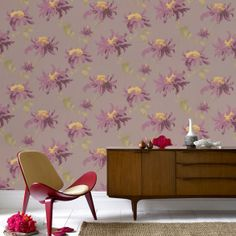 Graham & Brown Julien MacDonald Fabulous Plum Wallpaper. #laylagrayce #new #wallpaper #pantonecolor