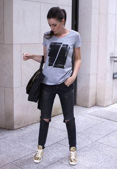 Maddox Grey T-shirt | Urban Gilt | Free Worldwide Delivery