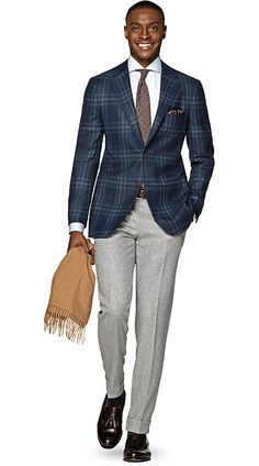 cd8a95d6ea Havana Blue Check Blazer Fashion