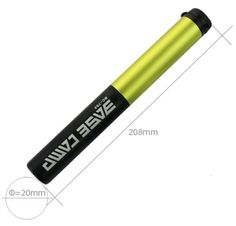 Portable Mini Bike Pump 130 PSI for All On & Off Road Tires Dimension: 2.6cm x 20.8cm / weight 157G Fits Presta & Schrader (No Valve Changing Needed) 130 PSI CAPACITY EXTENDABLE TELESCOPE Frame Pump easily switches from high volume (MTB pump) to high pressure (road bike pump) SUPER FIT CLEVER VALVE NO LEAKS - This bike tyre pump will not leak like other bike hand pumps often do! BIKE FRAME MOUNT - attaches securely to your bike. Velcro holds your portable tire pump firmly in place