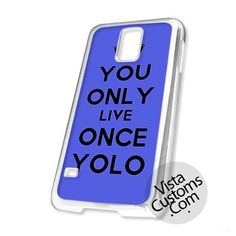 You Only Once Yolo Purple Quotes Cell Phones Cases For iPhone, Samsung Galaxy