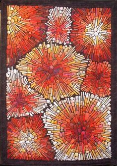 Mieke Gootjes - This gorgeous quilt looks as though it is made of glass tiles.  So beautiful.
