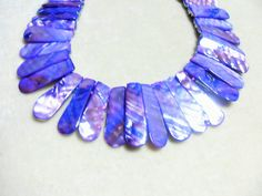 Mother of Pearl necklace dyed purple gorgeous by GingersLittleGems, $22.00