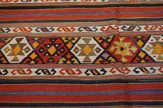 Late 19th C Antique Caucasian Azeri Shahsavan Textile Multicolor Kilim Rug 5x10 #Tribal
