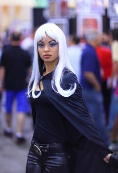 Storm   one of the best makeup cosplays i have seen done.  the costume is ok, but could use some work