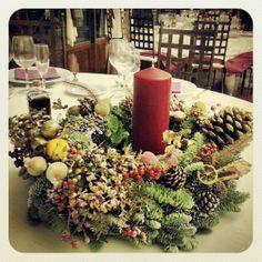 Centros de mesa de boda #BodasNavideñas #BodasdeInvierno en el Castillo del Buen Amor