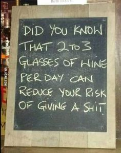 A very good reason to drink wine