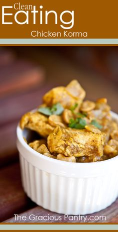 """Clean Eating Chicken Korma. If you are looking for more healthy recipes, fitness advice and motivation check/like my facebook page """"Hari Fitness"""" for more ideas!"""