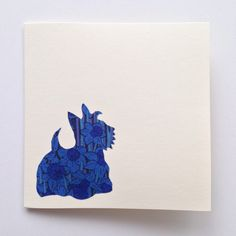 Liberty London Scottish Terrier Greeting Card  by MiaLovesJay on Etsy https://www.etsy.com/listing/219389184/liberty-london-scottish-terrier-greeting