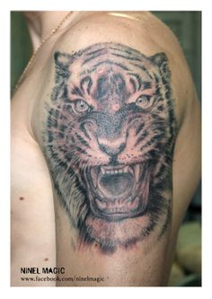 my work By #ninelmagic #tattoo #тату #татуировка #ink #tiger