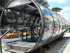 These cool looking bus stops have gained their reputation as a symbol of Curitiba – the heaven of urban design in Brazil. The bus stop is designed like a subway station where commuters pay at the entrance, so that they can walk directly on the bus. There is only one price no matter how far you go.