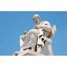 Aristotle statue Greek Philosopher Athens Greece Canvas Art - Prisma Archivo DanitaDelimont (18 x 12)