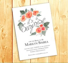 #flower #flowers #watercolorflowers #invitation #invites #bridal #bride #wedding #bridalshower #engagement #watercolorflower #watercolor https://www.etsy.com/listing/228268134/watercolor-peach-flowers-single-digital