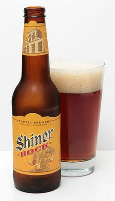 Shiner Bock from the little brewery in Shiner, TX, just down the road from Franklin's BBQ