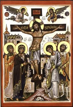 The Crucifixion (modern Russian icon)