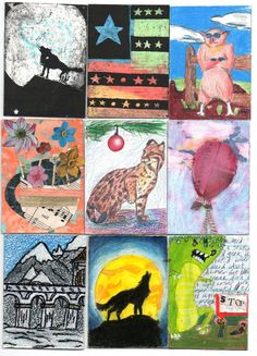Students Share Art Their Art With Others   The ARTIST TRADING CARD Project      ATC's are a fun way to get the year started with a small, b...