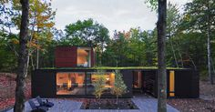 Johnsen Schmaling Architects design a house for a graphic designer and her husband in Wisconsin's Door County.