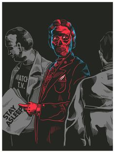 """They Live"" screen printed poster by Smithe"