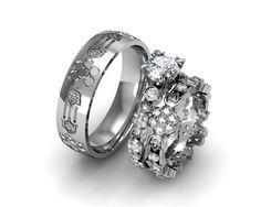 12 Best Custom Wedding Rings Images Custom Wedding Rings Halo