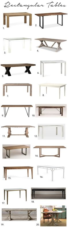 Elements of Style Blog | A Huge Dining Table Roundup! | http://www.elementsofstyleblog.com: