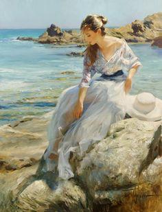 Girl of Martossa  Original Painting by Vladimir Volegov