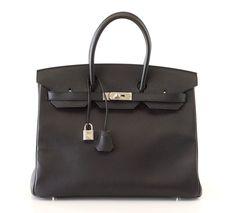 Hermes Birkin Bag 35 Epsom Black Palladium Hardware #hermes