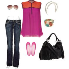 Casual Pinky Summer, created by ma-rg on Polyvore