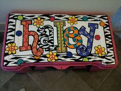 Items similar to Custom Hand painted Trunk on Etsy Painted Trunk, Painted Furniture, Hand Painted, Camp Trunks, Teacher Name Signs, Locker Designs, Crafty Projects, Happy Campers, Painted Signs